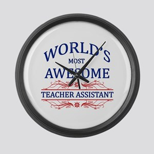 World's Most Awesome Teacher's Assistant Large Wal